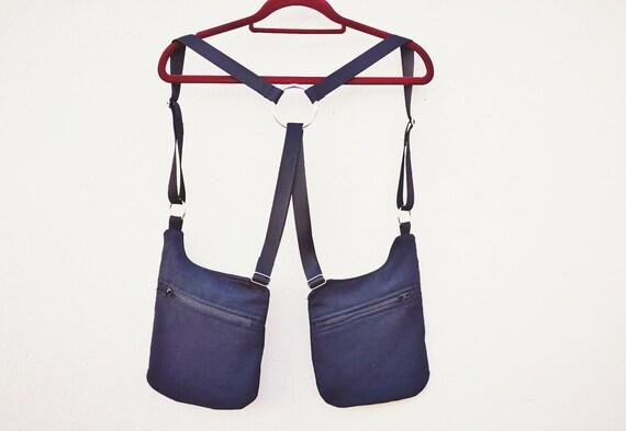 1 Holster Bags Holster Black Strips basic 2 front pockets 4 regulators