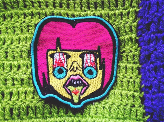 Embroidered Patches in thread approximate Size 9 cm.