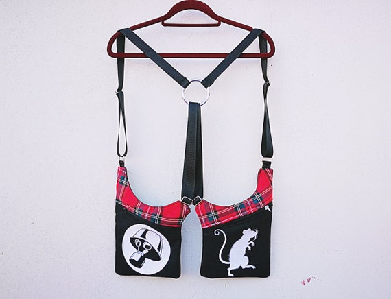Holsterbags Holster Cartridge Strips 2 pockets 4 regulators plaid fabric images applied in vinyl textile