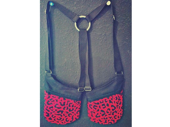 Cartridge strips Red Leopard 2 pockets with zipper Holsterbags holsters. More Colors to choose