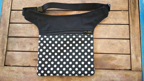 Bag flat crossbody bag saddle hip bag polka dots flemish 1 pocket