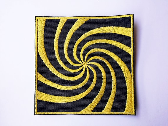 Embroidered visual patch in thread size cm Color of yarn to choose