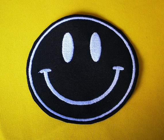 Smiley smiley embroidered patch small or large size