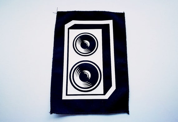 Vinyl Ecological Textile patch. remeshed edges (overlock). Speaker