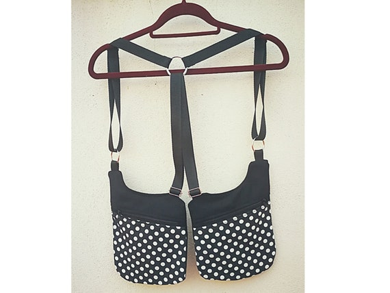 Holsterbag black and white polka dots holster 2 Pockets