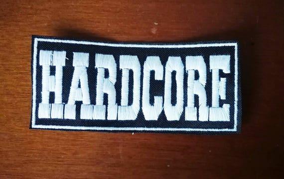 Parche hardcore 10 x 4cm aproximadamente