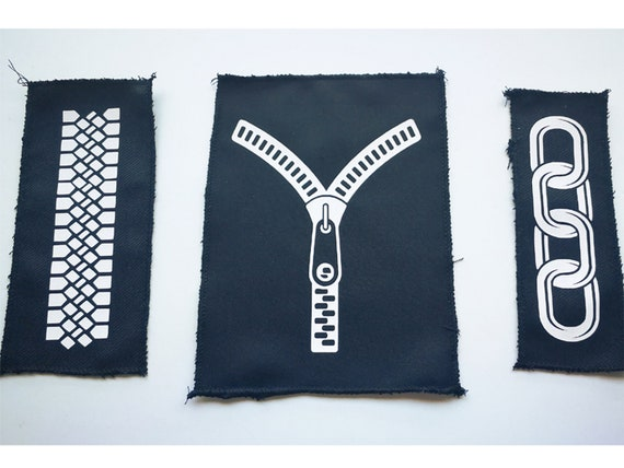 Eco-Vinyl Textile patches. Select Design. Remeshed edges (not fraying)