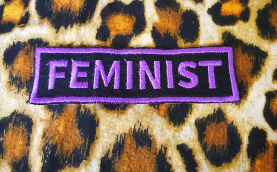 Patches Embroidered in feminist feminism thread Riot girls 10x4 cm approximately