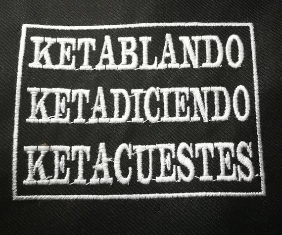 Embroidered patches in wire size 10 cm ketamine Rave Tekno