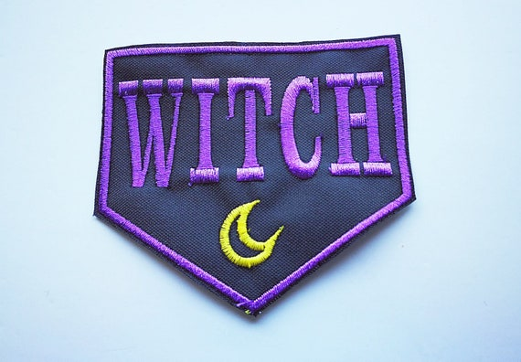 Patches Embroidered in feminist witch witch thread approximately 9cm