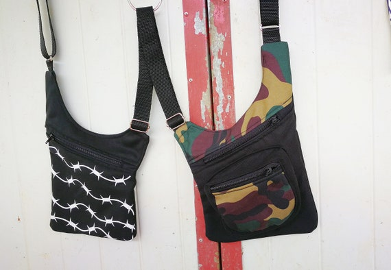 Gunmen Printed barbed wire and Holster Bags Military Fabric 3 Pockets
