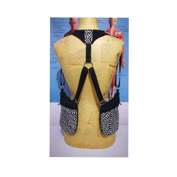 Strips Holster Zebra 2 pockets Riñoneras holster Bag holsters Shoulder bag