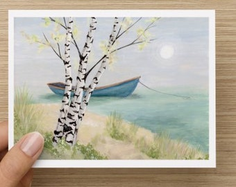 All occasion blank greeting card and envelope from original artwork by Jayne Ferguson