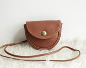 Vintage Coach Mini Belt Bag in British Tan - Vintage Coach Rare Style 9826 - Small Crossbody Purse with Spring Lock Closure