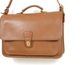 Vintage Coach Metropolitan Brief Bag - British Tan Coach 5180 - Leather Laptop Bag - Made in USA