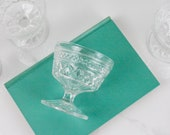 Champagne Glass Set - Vintage Anchor Hocking Wexford Sherbet Champagne Glasses Set of 4