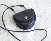 Coach Mini Belt Bag in Black - Vintage Coach Rare Style 9826 - Small Crossbody Purse with Spring Lock Closure -  Festival Purse