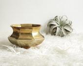 Brass Indoor Planter - Succulent Planter - Boho Vintage Decor - Brass Home Decor - Housewarming Gift