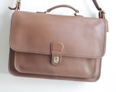 Vintage Coach Metropolitan Brief Bag - British Tan Coach 5180 - Leather Laptop Bag - Made in USA