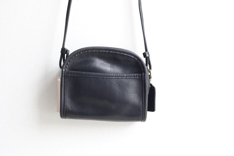 cfa99692e Vintage Coach Abbie Style 9017 Small Black Leather Purse   Etsy