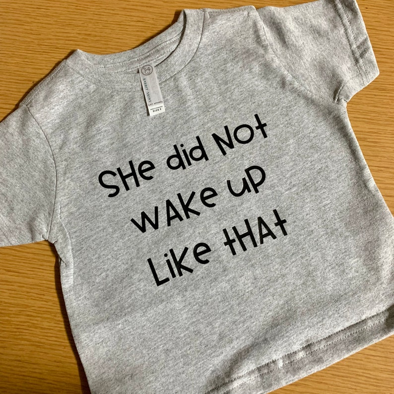I Woke Up Like This Mom and Child T-shirt Set