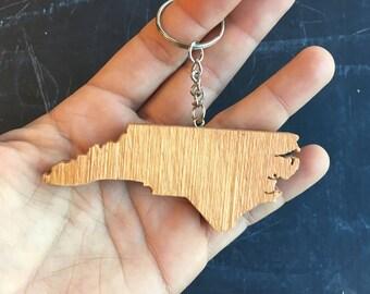 North Carolina Keychain, State Keychain, North Carolina Keepsake, North Carolina Gift