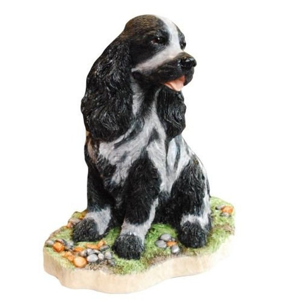 COCKER SPANIEL BLACK  DOG CHRISTMAS ORNAMENT HOLIDAY Figurine Scarf  gift