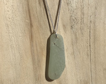 Turquoise Sea Glass from Newquay onSterling Silver Chain