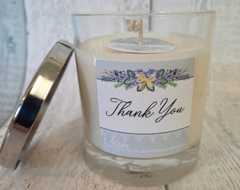 Thank You Soy Wax Candle   choose your fragrance