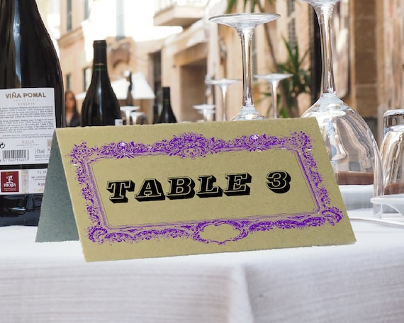 wedding table number wedding table name table tent etsy