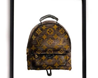 97b1943d1496 LV MONO BACKPACK - Louis Vuitton Lover Fashion Illustration Print -  Monogram Palm Springs Mini Louis Vuitton Backpack - Louis Vuitton Gift