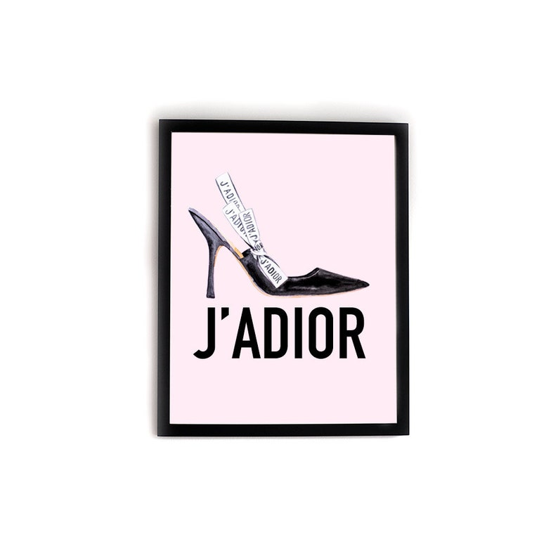 258fcd322f J ADIOR SHOE ENVY Dior Shoe Fashion Illustration Print