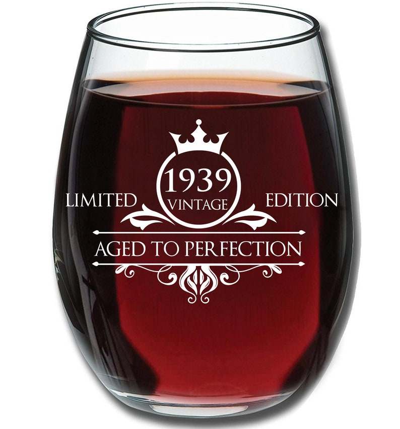 1939 80th Birthday Gifts For Women And Men Wine Glass