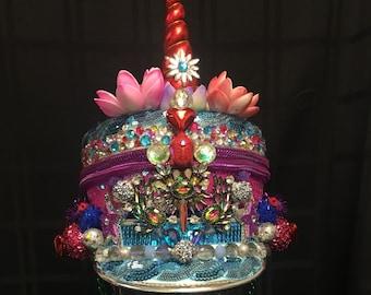 Rainbow Lotus Unicorn Marching Band Festival Hat Burning Man