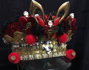 Three of Swords Steampunk Heart Captain's Festival Hat