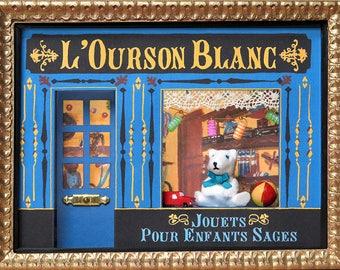 Miniature old toys display