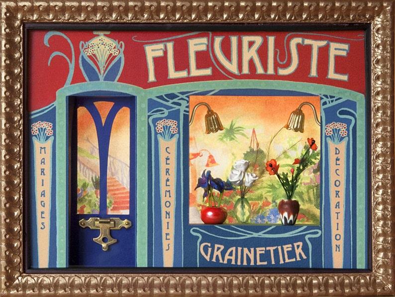 Miniature florist Parisian storefront image 0