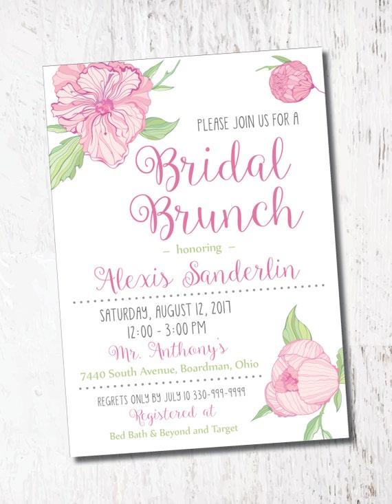Pink Floral Retro Bridal Baby Shower Event Printable Custom Etsy