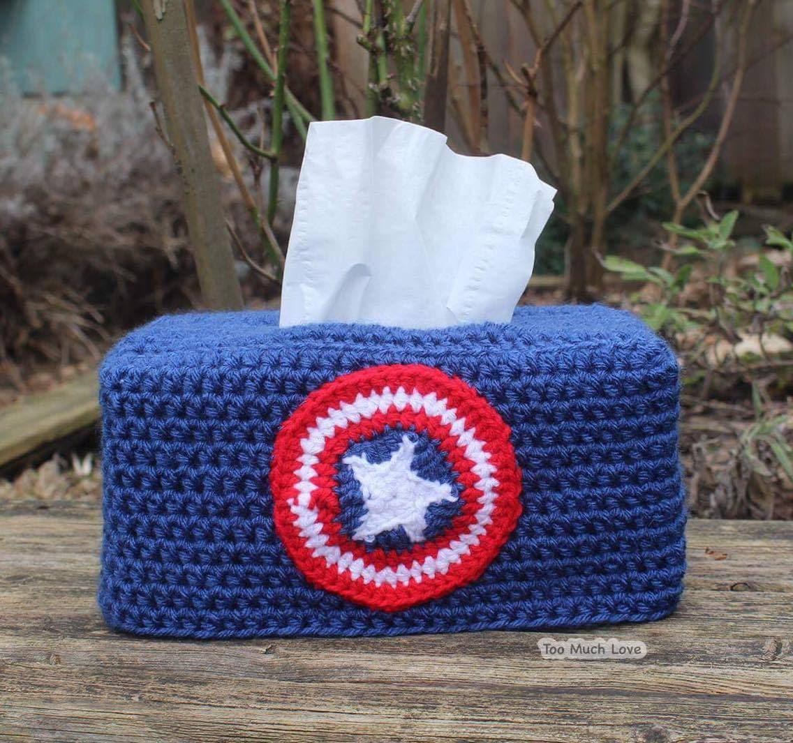 Crochet Tissue Box Cover Base & Variations PATTERN
