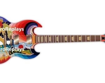 Mini Guitar TODD RUNDGREN Psychedelic Fool GIFT