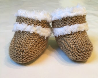 5f21c183f94 Knitted baby uggs | Etsy