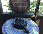 Griswold American No 8 Block Logo Waffle Iron p n 151 N with Bail Handled Base