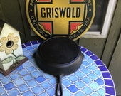 Griswold 10 Skillet Large Block Logo with a Heat Ring p n 716 C