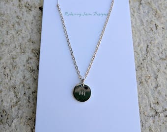 Personalised jewelry. Hand stamped necklace. Initial jewelry