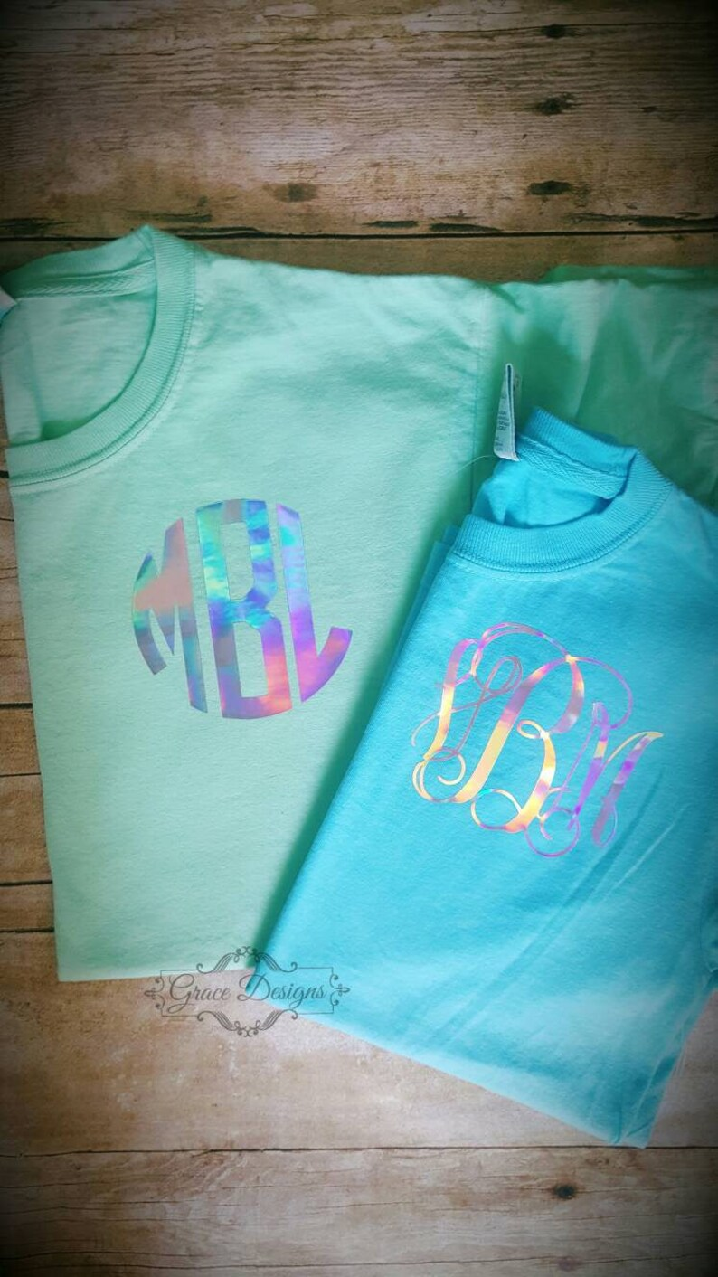 ff002987 Iridescent monogram shirt holographic monogram Ladies | Etsy