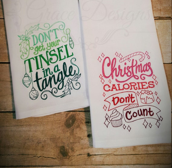 Christmas Kitchen Towels Christmas Hand Towels Christmas Etsy