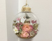 Romantic Garden Ornament, Shabby Chic Decor, French Country, Handmade Ornaments, Ornaments, Hanging Ornaments, Room Decor, Gift, Gift Ideas