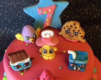 Shopkins cake topper