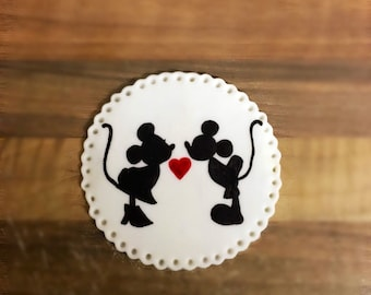 Mickey and Minnie Mouse Cookie/Cake Topper