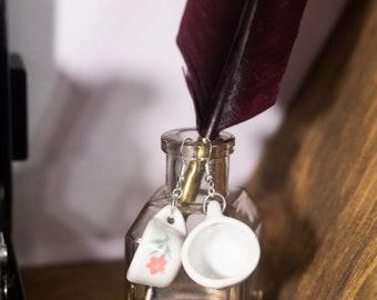 Tea Cup Earrings, Cottagecore Earrings Dangle, Tea Lover Gift, Cottagecore Jewelry, Doll Kitchen Set, Ceramic Earrings, Floral Earrings